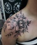Blumen auf Schulter Tattoo - by LenArt