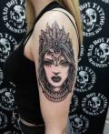 Mandala Frau FineArt Tattoo - by LenArt